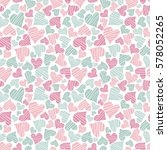 seamless background with hearts ... | Shutterstock .eps vector #578052265