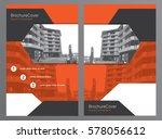 brochure template or flyer... | Shutterstock .eps vector #578056612