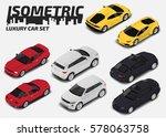 set of modern luxury cars.... | Shutterstock .eps vector #578063758