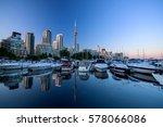 marina quay west  ontario ... | Shutterstock . vector #578066086