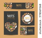 set of vector cards with nuts... | Shutterstock .eps vector #578069368