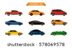 vector set of different cars... | Shutterstock .eps vector #578069578