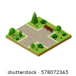 isometric 3d trees forest... | Shutterstock .eps vector #578072365