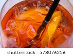 traditional spritz aperitif in... | Shutterstock . vector #578076256