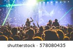young people dancing at night... | Shutterstock . vector #578080435