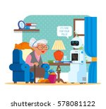 vector illustration of home... | Shutterstock .eps vector #578081122