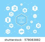 internet of things vector... | Shutterstock .eps vector #578083882