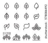 leaf line icon set | Shutterstock .eps vector #578086492
