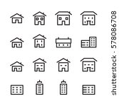house line icon | Shutterstock .eps vector #578086708