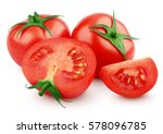 red tomato vegetables with... | Shutterstock . vector #578096785