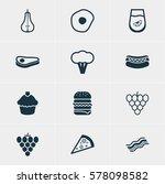 illustration of 12 cooking...   Shutterstock . vector #578098582