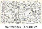 notebook sketch doodle clip art ... | Shutterstock .eps vector #57810199