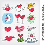 love in happy valentine's day | Shutterstock .eps vector #578105662