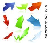 arrow icon set. vector | Shutterstock .eps vector #57810925