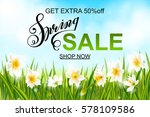spring sale banner  background... | Shutterstock .eps vector #578109586