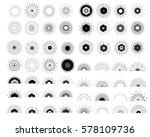 big set of retro sun burst... | Shutterstock .eps vector #578109736