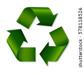 recycle green symbol with... | Shutterstock .eps vector #578118526