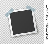 realistic square photo frame... | Shutterstock .eps vector #578123695