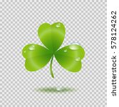 realistic shamrock leaf with... | Shutterstock .eps vector #578124262