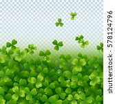 realistic flying shamrock... | Shutterstock .eps vector #578124796