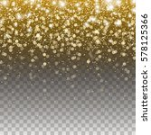 gold glitter particles and... | Shutterstock .eps vector #578125366