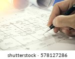 architectural blueprints and... | Shutterstock . vector #578127286