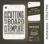 wood cutting board template... | Shutterstock .eps vector #578127442