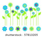 elegant bright flower border... | Shutterstock .eps vector #57813205