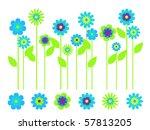 elegant bright flower border... | Shutterstock .eps vector #57813205