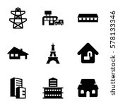 structure icon. set of 9... | Shutterstock .eps vector #578133346