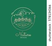 vector logo of nature elements... | Shutterstock .eps vector #578134366