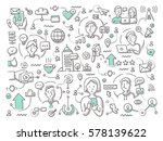 doodle vector abstract... | Shutterstock .eps vector #578139622