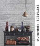 country style interior style | Shutterstock . vector #578141866