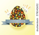 happy easter holiday background. | Shutterstock .eps vector #578142652