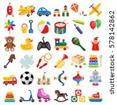 Toy Icon Collection   Vector...