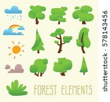 cartoon trees isolated on a... | Shutterstock .eps vector #578143456