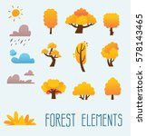cartoon trees isolated on a... | Shutterstock .eps vector #578143465