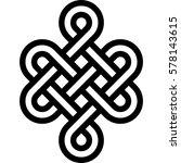 Stock vector celtic pattern element of scandinavian or celtic ornament 578143615