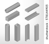 steel beam isolated on white... | Shutterstock .eps vector #578144905