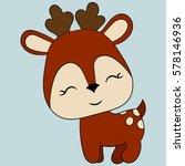 cute deer. children's... | Shutterstock .eps vector #578146936