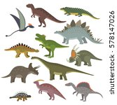 Big Set Of Different Dinosaurs...