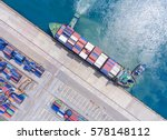 container container ship in... | Shutterstock . vector #578148112