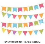 different colorful bunting for... | Shutterstock .eps vector #578148802