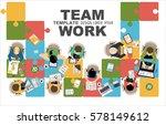 flat design illustration... | Shutterstock .eps vector #578149612