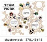 flat design illustration... | Shutterstock .eps vector #578149648