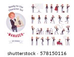 ready to use character set.... | Shutterstock .eps vector #578150116