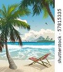 Hawaii Beach. Vector...