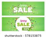 spring sales banners   modern... | Shutterstock .eps vector #578153875