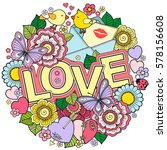 greeting card for lovers ... | Shutterstock . vector #578156608