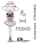 vector illustration with... | Shutterstock .eps vector #578156842